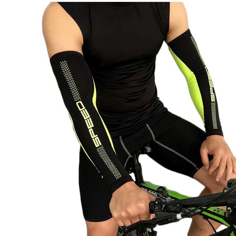 1 Pair Bike Cycling Cuff Sleeves Sun Protection UV Cover Racing Fit Arm Warmers