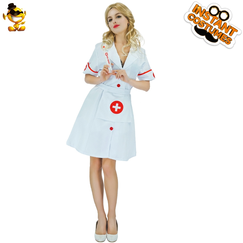 DSPLAY New Style Doctor Cosplay Costume Halloween Sexy Nurse Cute Fancy Dress Classic Roleplay Carnival Ladies Career Suits