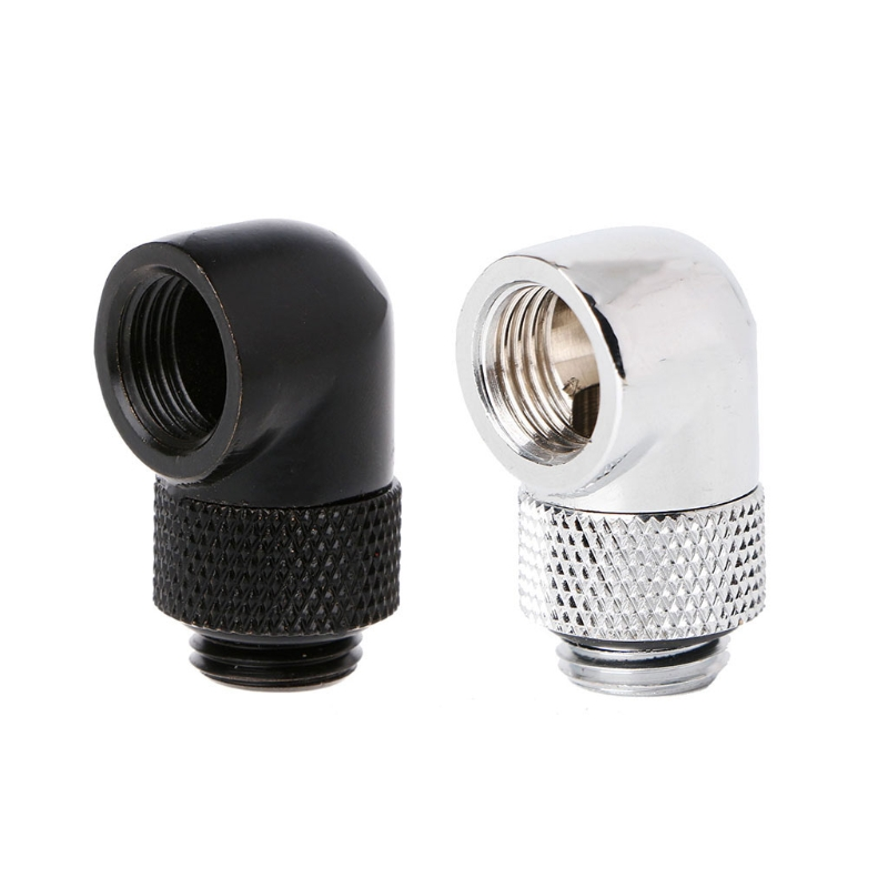 Barrow G1/4 Thread Male to Female 90 Degree Angle Rotary Fitting Extender Adapter barrow black white silver g1 4 thread 45 degree rotary fitting adapter rotating 45 degrees water cooling adaptors twt45 b01