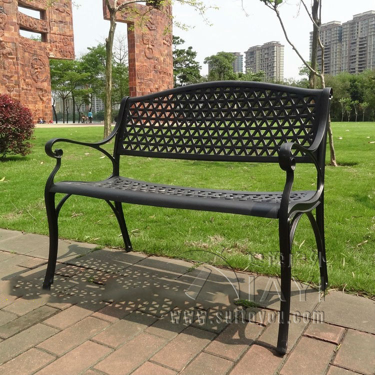 2 Seater Cast Aluminum Luxury Durable Park Chair Garden Bench White Bronze In Chairs From Furniture On Aliexpress