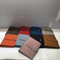 Kafunila 2019 women genuine leather short wallet high quality designer famous brand mini coin purse business credit card hold