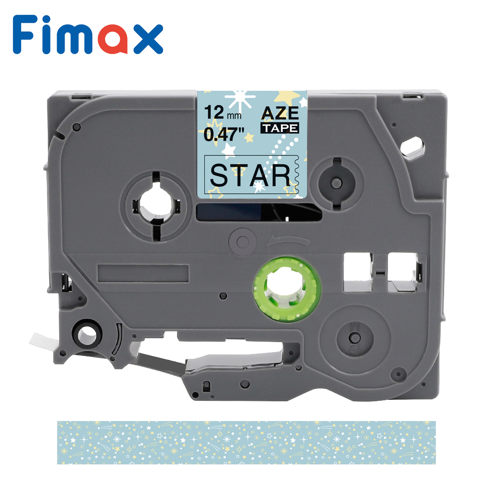 1 Pcs Fimax Star Pattern Tape TZE231 Tze-231 12mm label tape for Brother p-touch P Touch printers TZe131 TZe-131 tz231 tze 231(China)