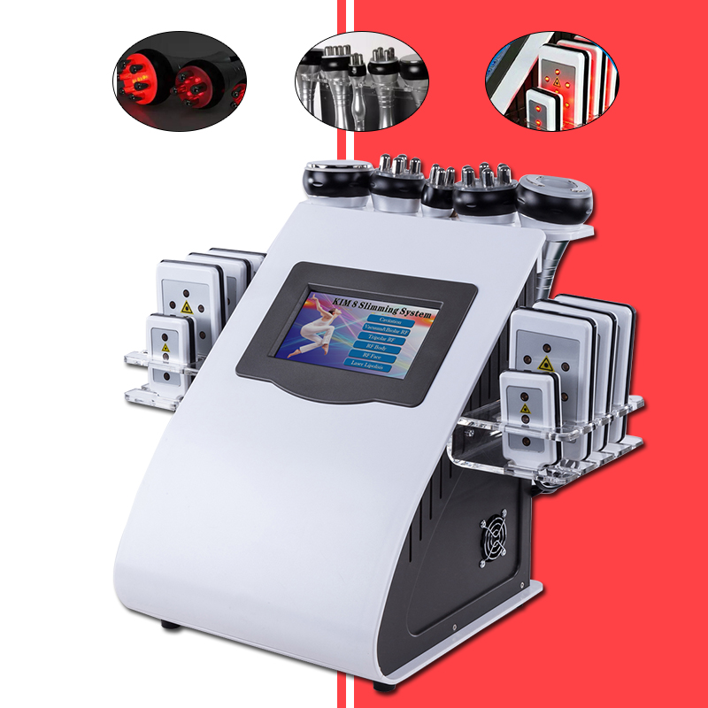 2018 New Promotion 6 In 1 Ultrasonic Cavitation Vacuum Radio Frequency Laser Slimming Machine for Spa