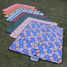 ปิกนิก moisture   proof แบบพกพากลางแจ้งเสริมผ้าปิคนิคฤดูใบไม้ผลิ outing picnic beach หญ้า mat1.5 * 1.8 m