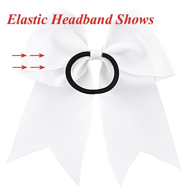 8 inch meisjes elastische haarbanden sequin grosgrain lint haar boog - Kledingaccessoires - Foto 3