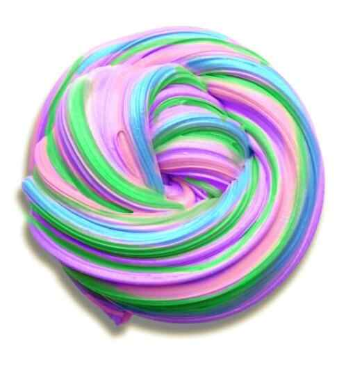 rainbow fluffy slime toys putty soft clay styrofoam light Playdough Slime supplies Plasticine Gum Polymer Clay Slijm Speelgoed