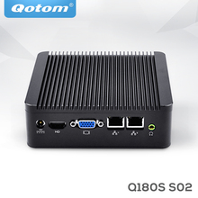 Qotom Fanless Mini PC Computer Celeron j1800 j1900 dual lan Micro pc 2.41GHz dual core Industrial Computer Linux Thin Client