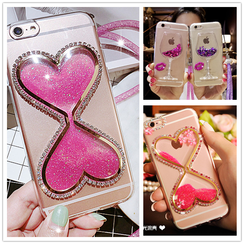 Cellphones & Telecommunications Luxury Glitter Hourglass Liquid Sand Case For Xiaomi Redmi Note 7/note 6 Pro/note 5/5 Pro/4x 4 3 Bling Crystal Cup Fundas Activating Blood Circulation And Strengthening Sinews And Bones