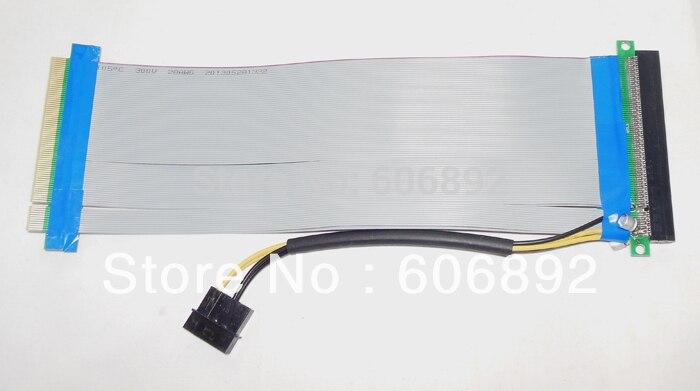 все цены на  PCI-E PCI Express 16X to 16X Adapter Converter Riser Card Extender Flexible Extension Cable Molex 4 Pin Power Connector  онлайн