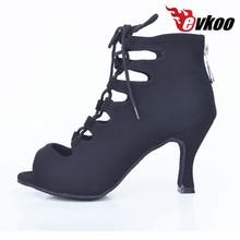 Evkoodance New Style Red/Blue/black/purple Salsa Shoes 6/7/8.5cm Heel Ballroom Latin Dance Shoes Women Evkoo-365
