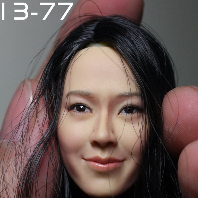 13-77 KUMIK 1/6 scale female head shape for 12 Action Figure doll accessories Ph head carved not include the body and clothes 1 6 figure doll head shape for 12 action figure doll accessories batman joker red hair head carved not include body clothes