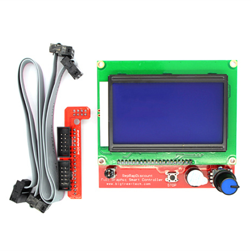 1Set 3D Printer Parts LCD 12864 LCD Control Panel 12864lcd Display For 3D Printer Smart Controller RAMPS1.4