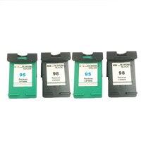 Einkshop 98 95 substituição do cartucho de tinta recarregada para hp 98 95 photosmart c4100 c4110 c4140 c4183 officejet 6300 6313 impressora