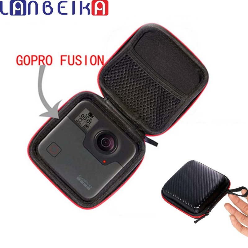 LANBEIKA Portable Carry Case Accessory Anti-shock Storage Bag For Gopro Fusion For Xiaomi Mijia 360 Degree Panoramic Camera