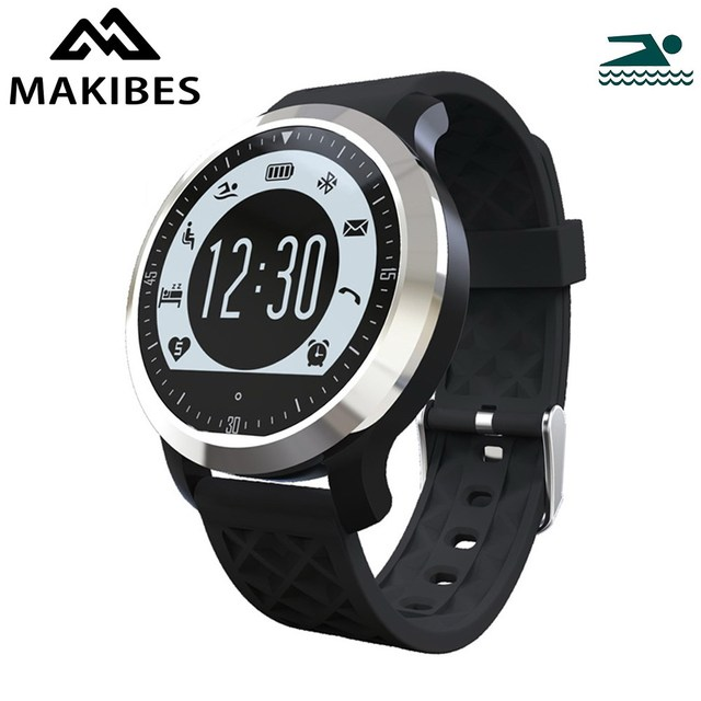 Original Makibes F69 Sprots smart Watch IP68 Fitness Tracker Heart Rate Monitor Swimming monitor for IOS Android  xiaomi phones