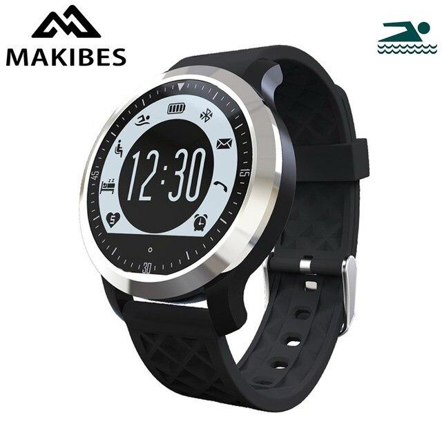 Original makibes f69 smart watch ip68 sprots gimnasio rastreador monitor del ritmo cardíaco del monitor de natación para ios android xiaomi teléfonos