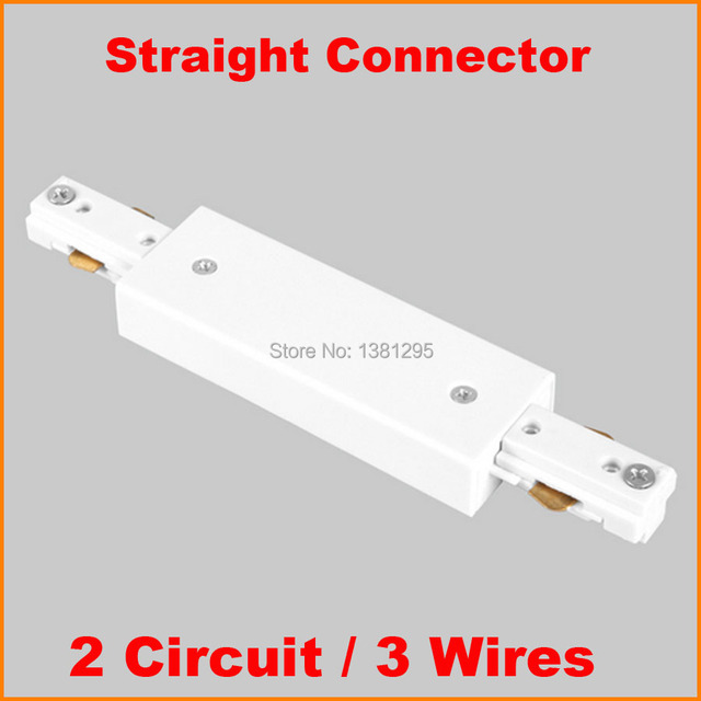 3 Wire 2 Circuit Led Lighting Track Connector For Joining Rails Components Middle Feed Aluminum