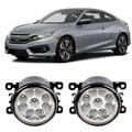 Car Styling DRL Daytime Running Lights For Honda Civic 2016 2017 9-Pieces Leds Fog Lights H11 H8 12V 55W LED Fog Lamp