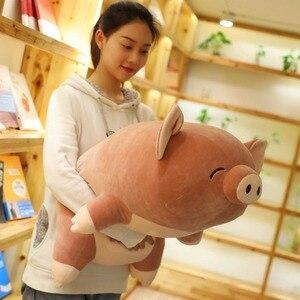 Большая 80 см мультяшная Розовая Свинья плюшевая игрушка мягкая кукла Спящая Подушка Рождественский подарок s2521