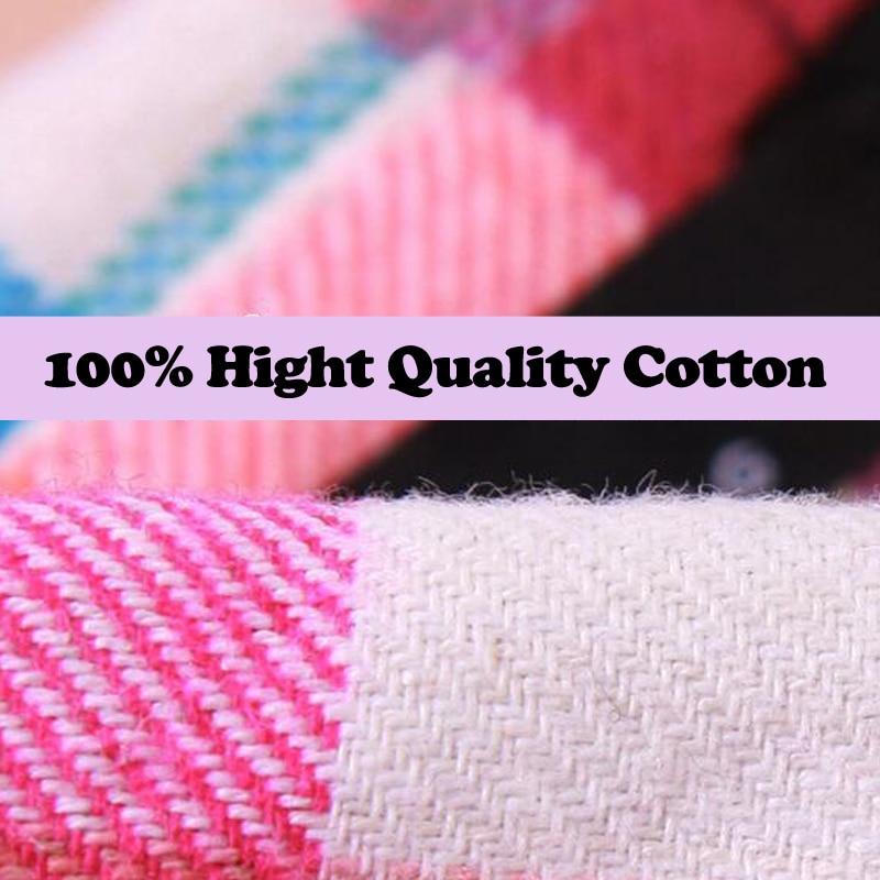 Bluzka koszula damska bluzka w kratę 100% bawełna Bluzka z długim - Ubrania Damskie - Zdjęcie 3