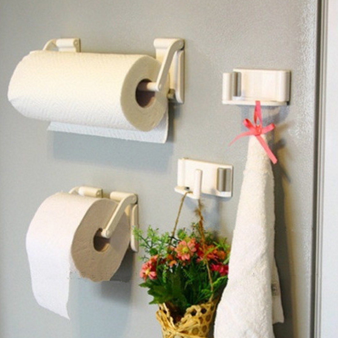 New Arrival Towel Rack Magnetic Paper Towel Oleopholic Roll Holder For Refrigerator Bathroom Accessories