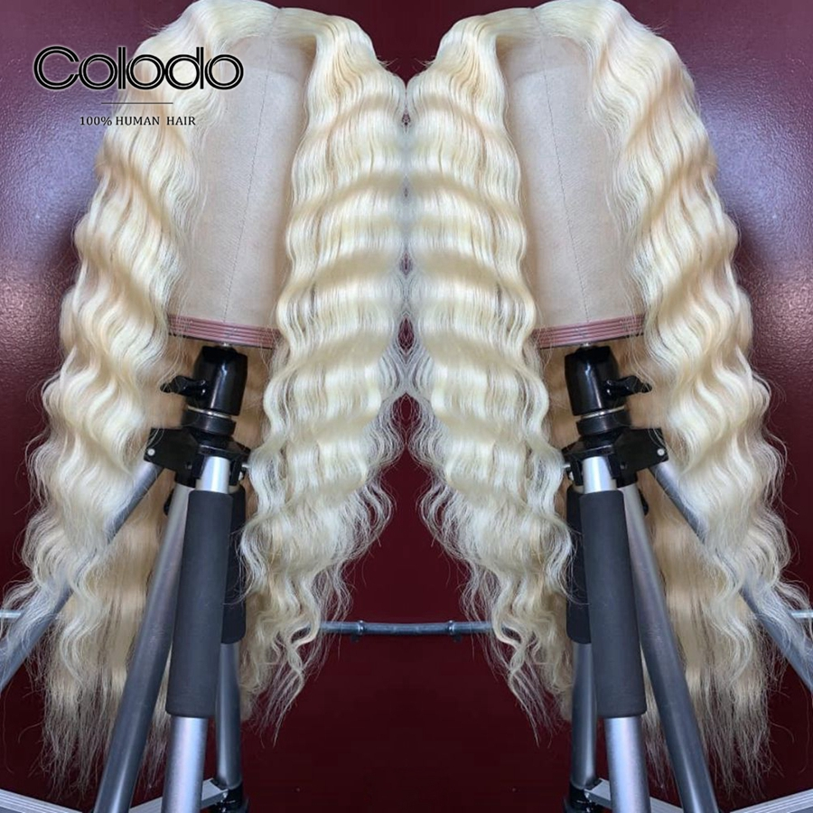613 lace front wig deep wave wigs