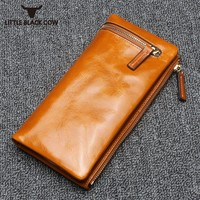 High Quality Luxury Purses For Women Vintage Genuine Leather Long Wallet 2019 New Fashion Solid Cow Leather Wallet Clutch Bags