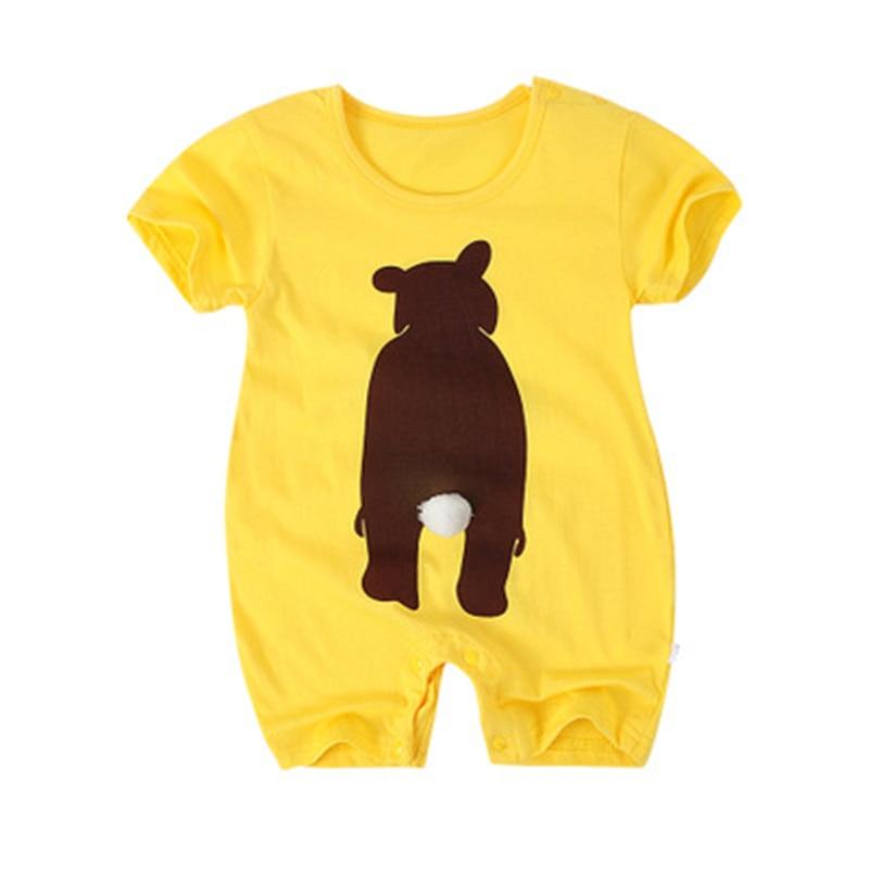 Lato Baby Rompers Cotton Baby Girl Ubrania Moda Baby Boy Odzież 2018 - Odzież dla niemowląt - Zdjęcie 4