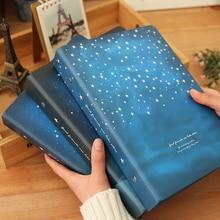 """""""Gute Nacht"""" Lose Blatt Notebook Große Spule Spirale Hard Cover Tagebuch Gefüttert Papiere Journal Planer Studie Notizblock"""