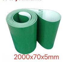 (Customized Size Please Contact) 2000x70x5mm  PVC Green Transmission Conveyor Belt Industrial
