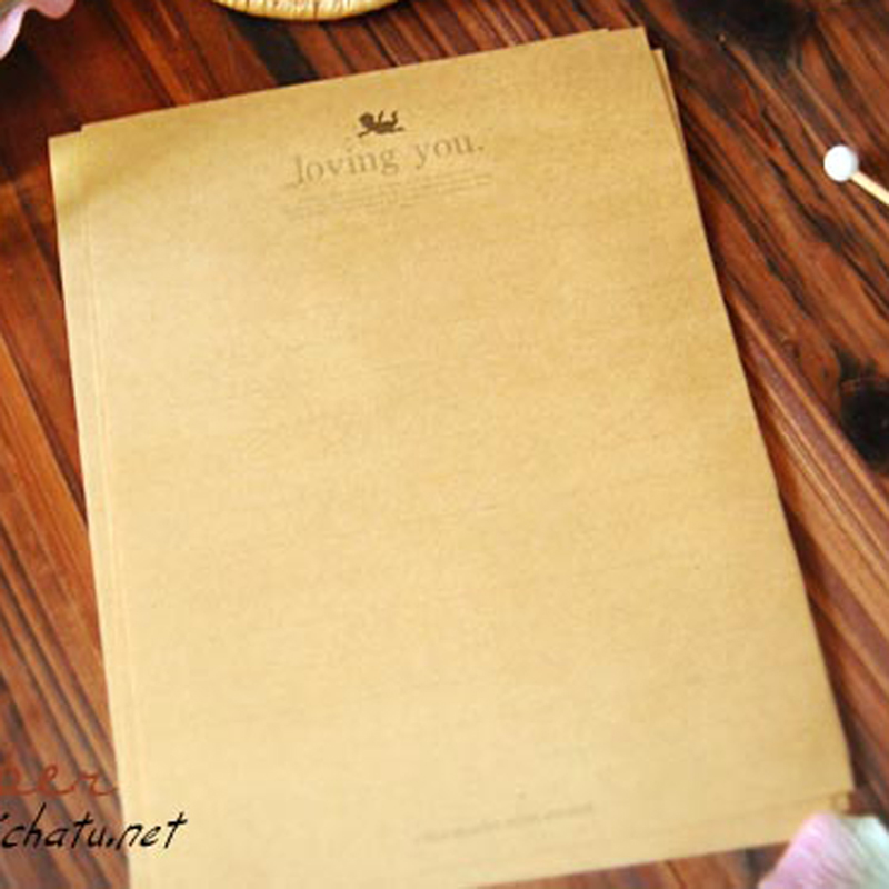 online get cheap writing paper kraft com alibaba group 8 pcs a lot new european style retro r ce cupid love letter paper kraft writing