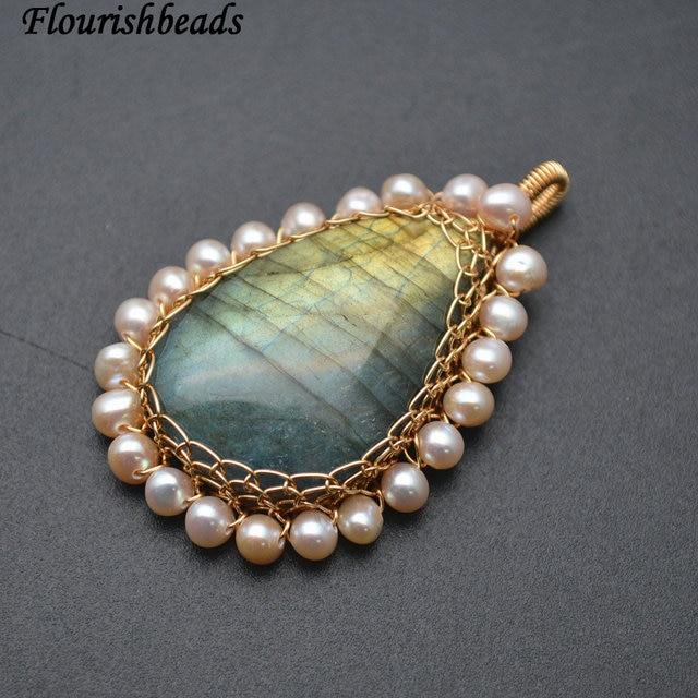 High Quality Shiny Natural Labradorite Stone Cabochon White Pearl ...