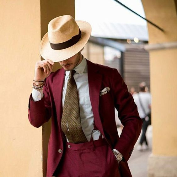 Latest Coat Pant Designs Burgundy Men Suit Slim Fit 2 Piece Tuxedo Custom Groom Blazer Prom Suits Terno Masuclino Jacket+Pant R6