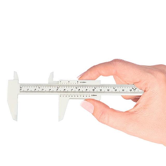 1 Pcs Double Scale Sliding Gauge EyebRow Ruler Permanent Makeup Eyebrow Tattoo Measuring Ruler Caliper Measure Tools New 5