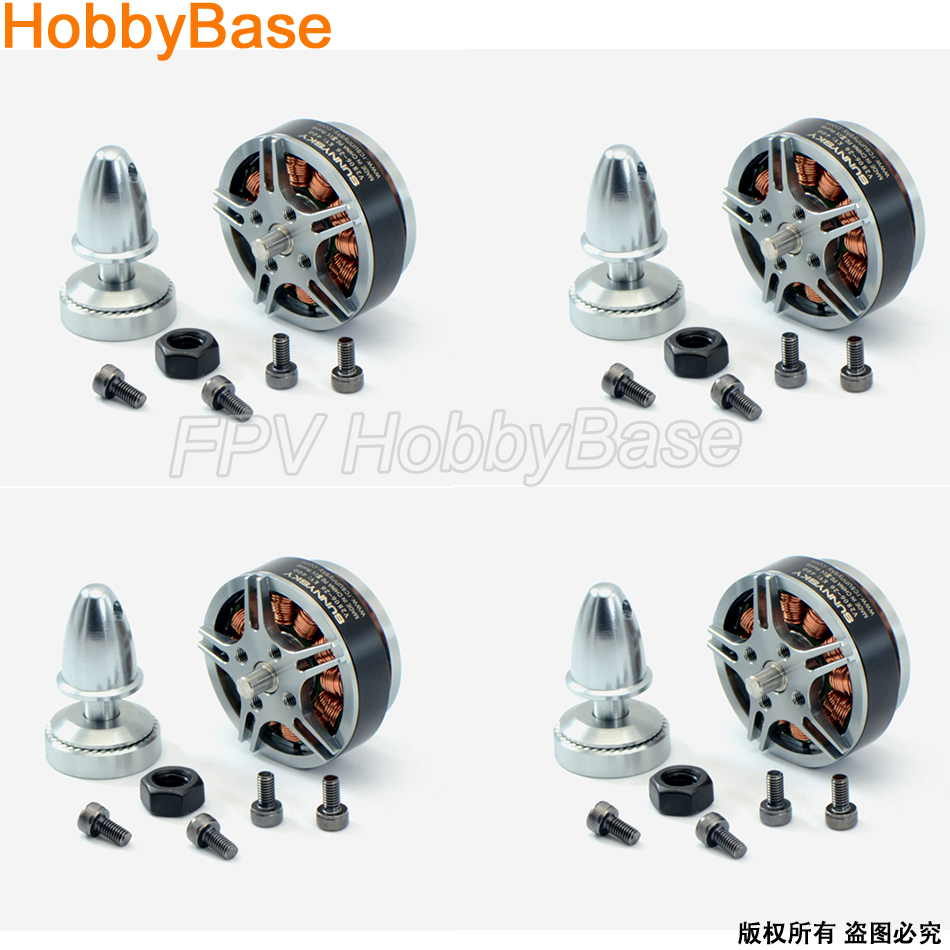 Sunnysky V2806 4pcs New original 400kv 650KV disc Brushless motor for RC Quadcopter Multicopter 4set lot sunnysky x4110s 580kv 680kv 460kv 400kv 340kv brushless disc motor for multirotor multicopter