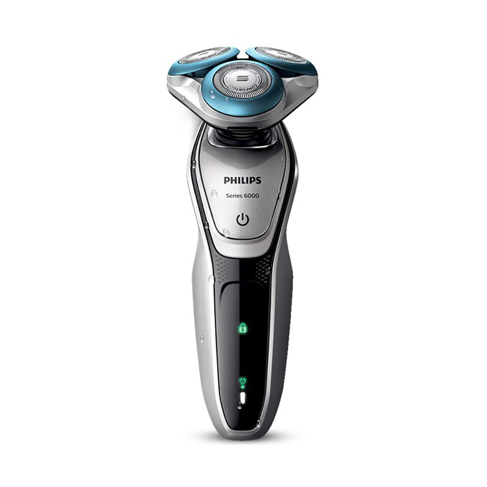 Philips men's electric razor shaver S6011 IPX7 waterproof rechargeable Microbead skincare specially designed for sensitive skin image