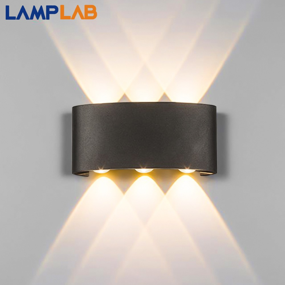 Moderna lâmpada de parede led interior da escada luminária cabeceira loft sala estar para cima baixo casa corredor lampada 2 w 4 6 arandelas parede