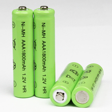 10pcs/Lot High Energy 1.2V 1800mAh NiMh AAA Rechargeable Battery Ni-mh 3A Batteries Battria FREE shipping