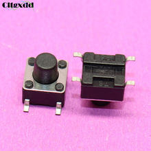 cltgxdd 1~100pcs New micro switch 6*6*6.5mm 4 pin SMD tactile push button switch 6x6x6.5H 4pin Touch ON/OFF switch button(China)