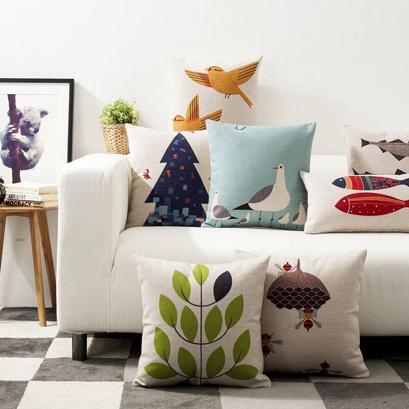 45x45 см декоративная подушка чехол nordic новый мир небольшой свежий хлопок белье Чехлы для автомобиля диван декор для дома