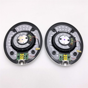 Unidade de som motorista de papel de carbono 40mm, para fones de ouvido diy 10hz-80khz, qualidade de som superior projetado por onkyo