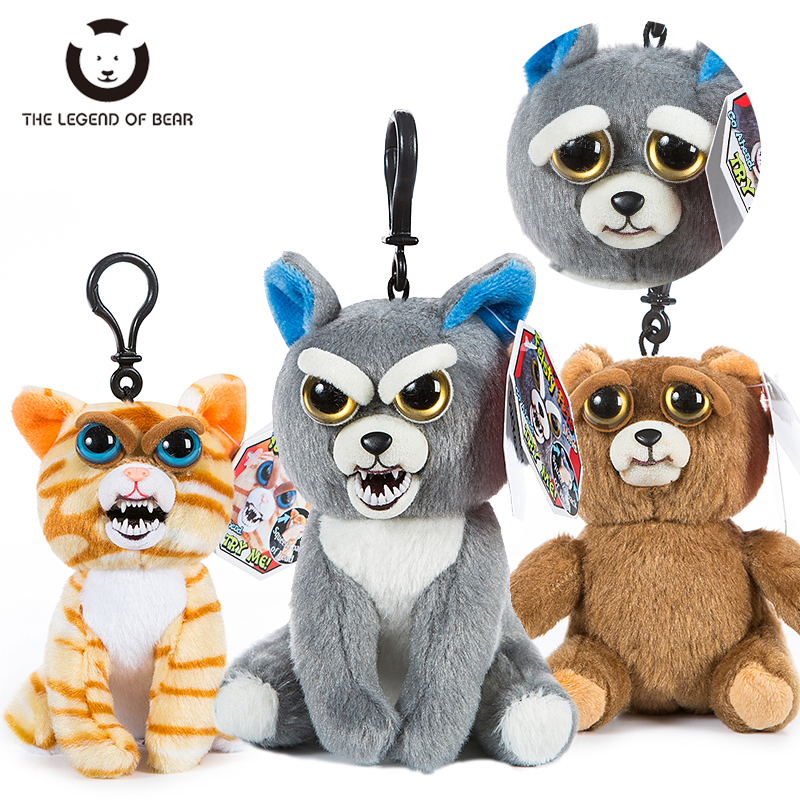 The Legend of Bear New Mini Feisty Pets Christmas Children Gift Change Face Stuffed Animal Doll Plush Toys Kids Cute Prank toy 1pc 30cm cute descendants of the sun the same paragraph plush toy secondary group wolf king