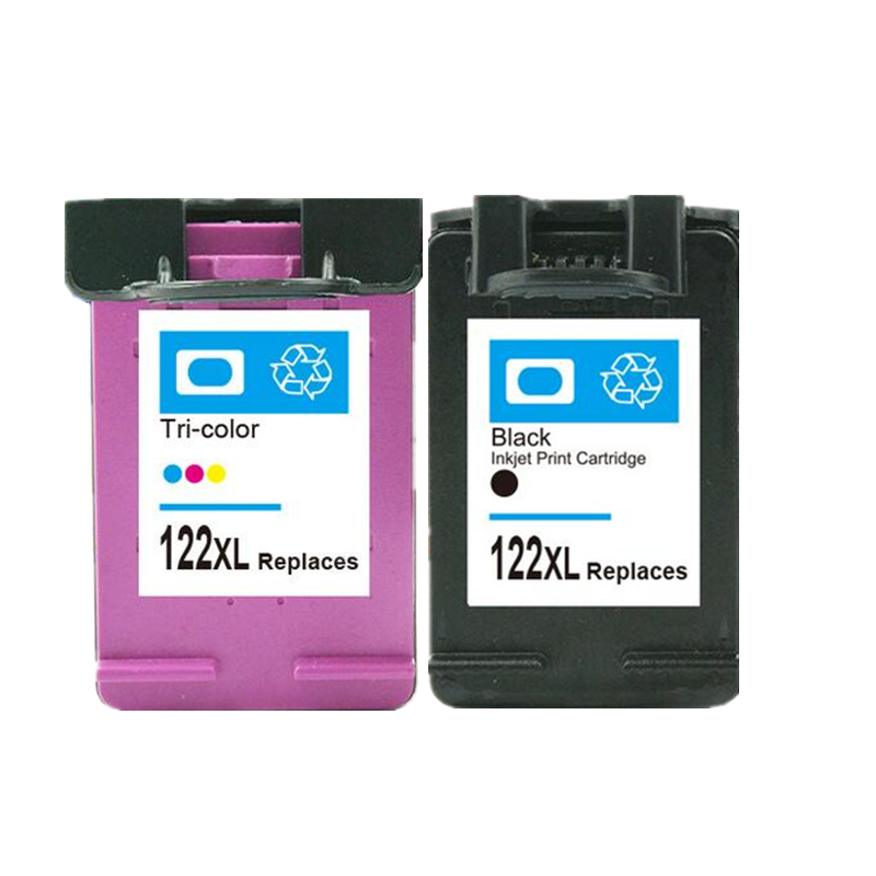 1 set Ink Cartridge Compatible For HP 122 122XL For HP Deskjet 1000 1050 2000 2050 3000 3050A 3052A replacement for <font><b>hp122xl</b></font> image