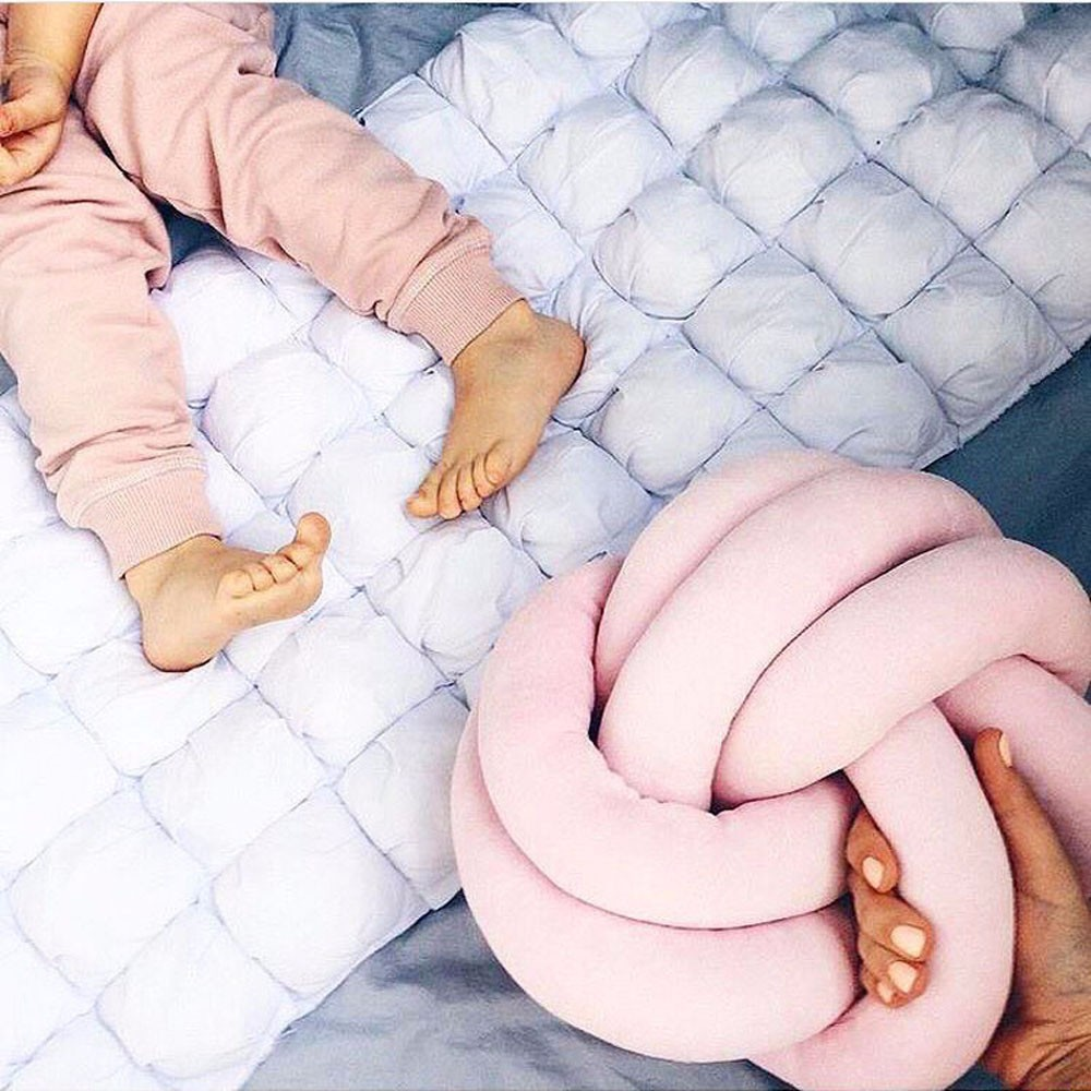 18cm Pillow Baby Solid Cotton Knot Ball Cushion Pillow Baby Calm Sleep Dolls Stuffed Toys For Kids Boys Decor Bed Room