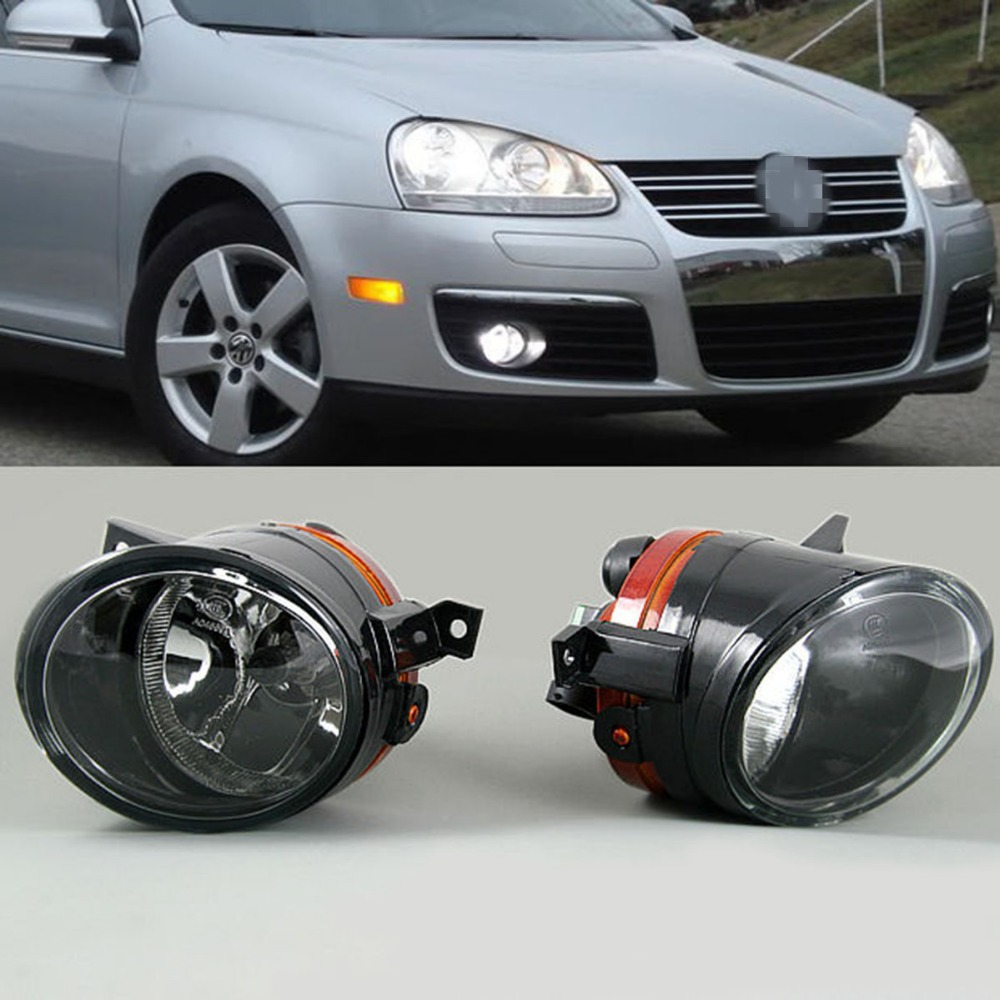 TAIHONGYU Pair Left Right Side Front Bumper Convex Lens Driving Lamp Fog Light for VW Golf Jetta MK5 1T0 941 699 C 1T0 941 700 C