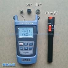 2 In1 Ftth Fibra Ottica Tool Kit KING 60SB Fiber Optische Power Meter 50 ~ + 20dBm En 10 Km 10 Mw Visual Fault Locator