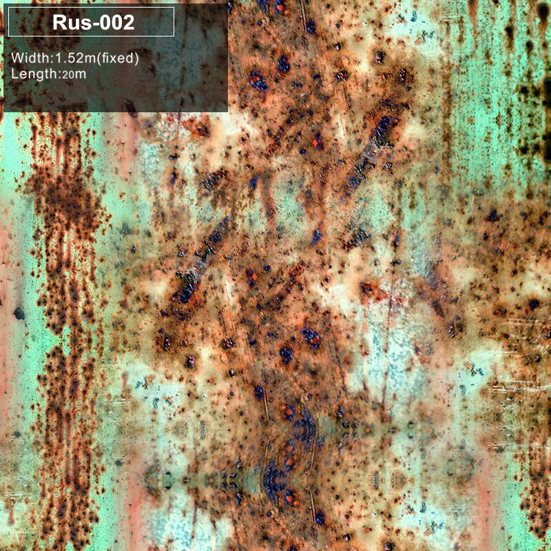 RUS 002 Rust Vinyl Wrap Rust Car Vinyl Film Air Bubble Free Vehicle Wrap Auto Graphics  free shipping High-end material