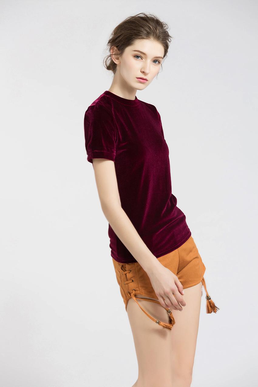 HTB1hwOXSXXXXXbkXVXXq6xXFXXXl - Summer Tops Short Sleeve Cotton Velvet T Shirt Women