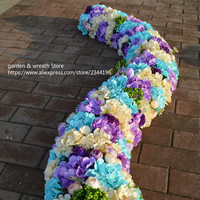 custom wedding flower wall,accessories flowers and plastic base.rose peony hydrangeas leaves baby breath