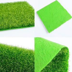 Image 4 - 1Pcs 15*15ซม.ตุ๊กตาMitationอุปกรณ์เสริมปลอมMoss Gardenเฟอร์นิเจอร์ของเล่นลานหญ้าสีเขียวของเล่นสำหรับเด็ก